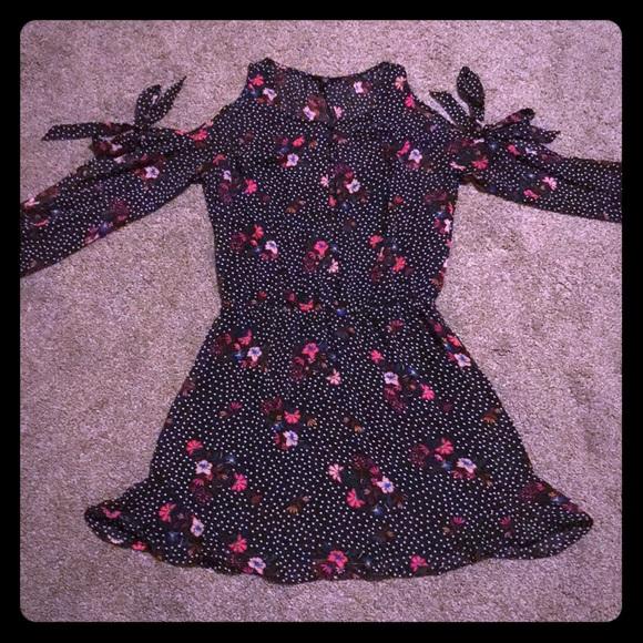 Express Dresses & Skirts - Express Polka Dot Floral Dress
